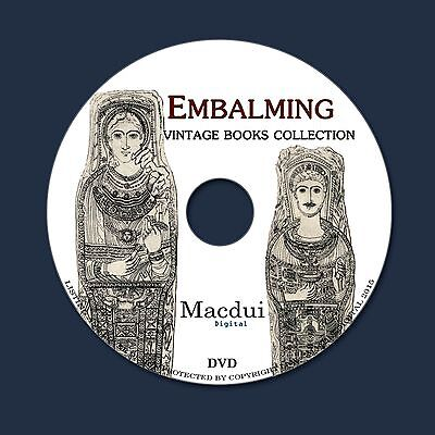 Embalming Vintage E-books Collection 28 PDF 1 DVD Egypt Mummy Pharaoh History