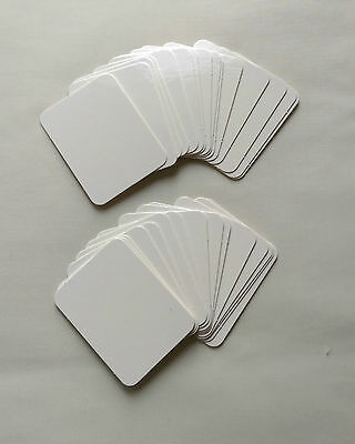 Blank Cards (A new set of 30 white cards for use with dry-wipe pen) 6.5cmx4.8cm