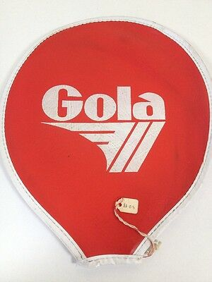 Vintage 1970s Gola Leather Squash Racket Head Cover Slip Red Rare Collectable