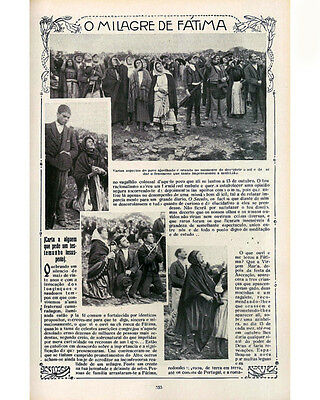 Our Lady of Fatima Virgin Apparitions 8x10 Newspaper copy Vintage Catholic