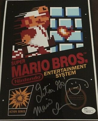 Charles Martinet Signed Super Mario Brothers 8 X 10 JSA COA Mario And Luigi D9