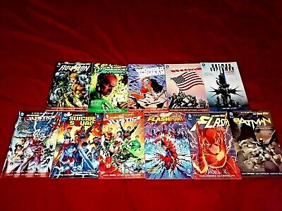 12 Tpb Flash Rebirth Flashpoint Jla Batman Superman Suicide Squad Gl Vol 1 4 Tpb