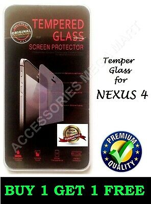 Temper Glass Anti-Scratch Shock Proof 9H Hardness Screen Protector For Nexus 4