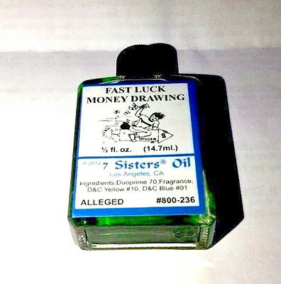 7 Sisters Oil Fast Luck Money Drawing Oil - Free Shipping 1/2 Fl Oz.