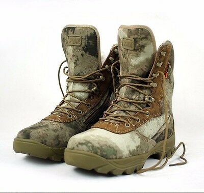 Men's Camouflage Tactical Hunting Boots A-TACS Desert Combat Shoes for Hiking