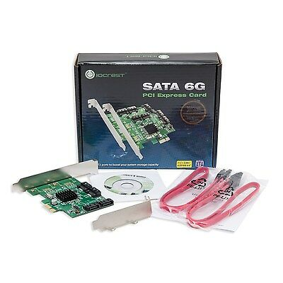NEW Syba SATA III 4 Port PCI-e x1 Controller Card with Low Profile Brackets