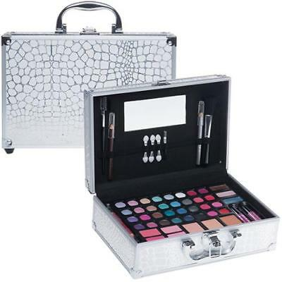Valigetta Make Up 54 Pezzi - Set trucco cosmetici - Kit Trousse palette Silver