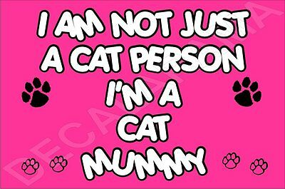 I'm Not Just A Cat Person I'm A Cat Mummy Laminated Sign Gift Present Kitten