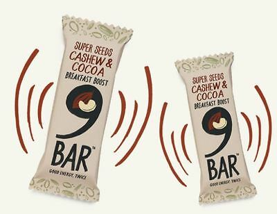 9 Bar Breakfast Cashew & Cocoa 50g (Pack of 16)