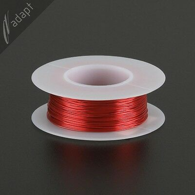 26 AWG Gauge Magnet Wire Red 163' 155C Solderable Enameled Copper Coil Winding H