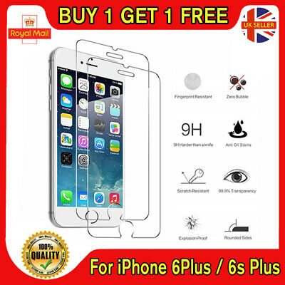 100% Genuine Tempered Glass Screen Protector For Iphone 6 Plus