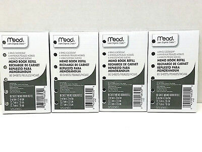 "Mead 6-Ring Memo Book Refill Paper, College Rule; 5"" x 3"" 80sheets 2Pk. MEA46530"