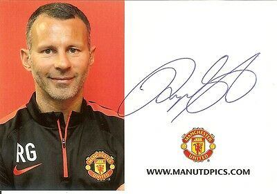 Signed Ryan Giggs Manchester Utd  Wales Football Signature Autograph