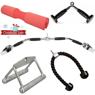 Multi Gym Cable Tricep Rope Lat Pull Down Bar Gym Attachment Pro Training Bands