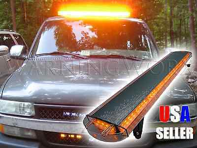 Amber Yellow Led Emergency Warning Tow Strobe Light Bar 47""