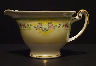 Vintage MEITO CHINA Made in Japan Hand Painted White/Light Yellow Floral Creamer