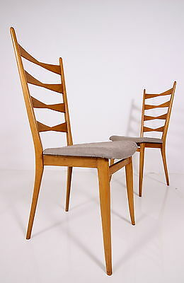 SET of 2 60s chairs chair 2 chaises chaise a 60 sedia sedie a60 new upholstered