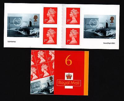 Stamp Booklet Self Adhesive Barcode Submarine 2001 Pm2 Superb Condition