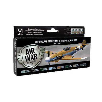 Vallejo MODEL AIR Color: set 8 colori acrilici da 17 ml - Luftwaffe Maritime and