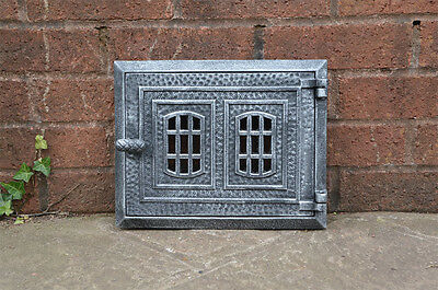 cast iron fire door clay / bread oven door / pizza stove smoke house