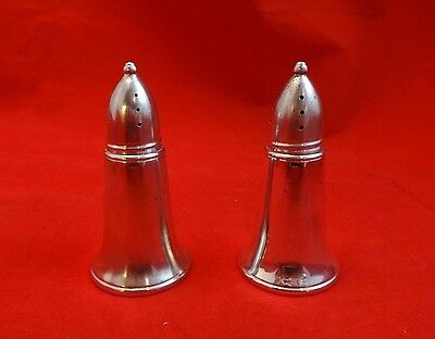 Pair of Sterling Salt and Pepper Shakers with Glass Liner by Crown (#2439)