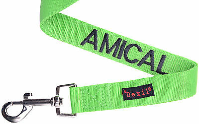 Pet Dog Leash French Color Coded Green Amical Alert Assistance Safe Warning New