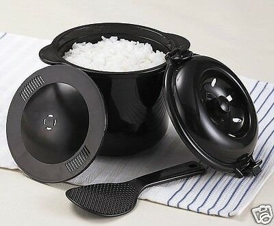 Japanese Rice cooker maker Microwave easy simple cooking Steamer Made in Japan
