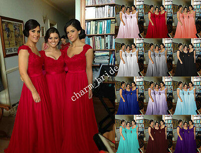 New Chiffon Formal Evening Bridesmaid Dresses Party Ball Prom Gown Dress