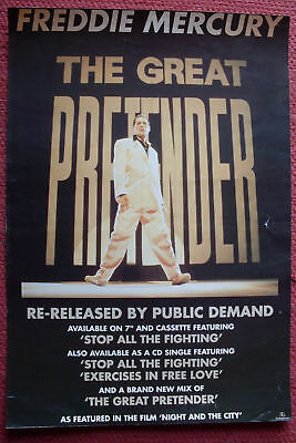 Poster Promozionale Freddy Mercury (Queen) The Great Pretender 1993 Parlophone