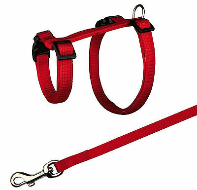 Trixie Plain Rabbit Harness With Lead Nylon, 25-44cm/10mm, 1.25m TX6260
