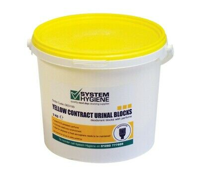 Urinal Blocks 3Kg Tub 150 Blocks Avg Colour Yellow