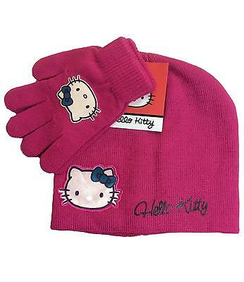 Hello Kitty Hat and Gloves Set Fuchsia One size fits 4 to 8 Years