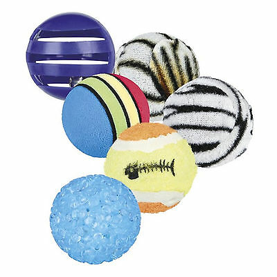Trixie Cat Playing Balls Set Of 6 TX4523