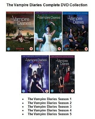 VAMPIRE DIARIES COMPLETE SERIES DVD Collection Set Season 1 2 3 4 5 Sealed Box