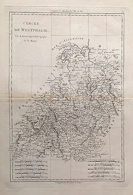 GERMANY . Westphalia .Original map, Bonne, 1787