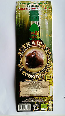 BISON GRASS Alcoholic drink condiment Bison grass, ZUBROWKA, 100% Natural herbs