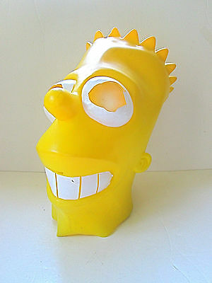Bart Simpson Adult Costume Full Head Yellow Rubber Mask (Smaller Size)