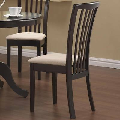 Brannan Cappuccino Slat Back Dining Chair by Coaster 101082- Set of 2