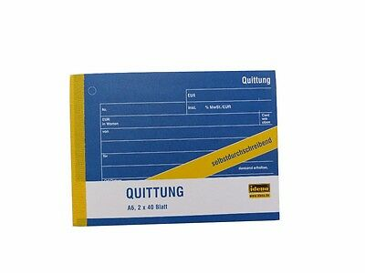 OVP Maxi SparpackAvery Zweckform 1735 Quittung A6 quer, MwSt. separat