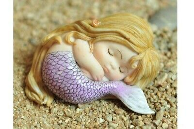 Miniature Dollhouse FAIRY GARDEN - Sleeping Little Mermaid - Accessories