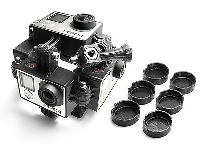 360 Degree Panorama Frame Rig Mount for 6x GoPro HERO 3, 3+, 4 3D Accessories
