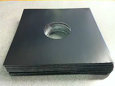 """12"""" Black Record Sleeves - Pack of 20 - Free Delivery"""