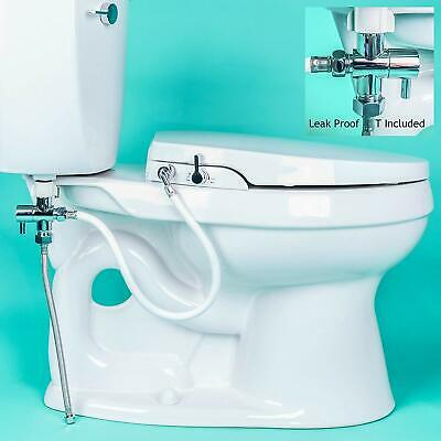 GenieBidet ELONGATED Toilet Bidet Seat, Non Electric, Sleek & Simple to Install