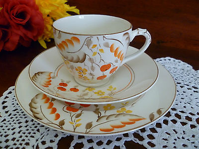 Empire Ware Made In England Deco Design Tea Size Cup , Saucer & Plate