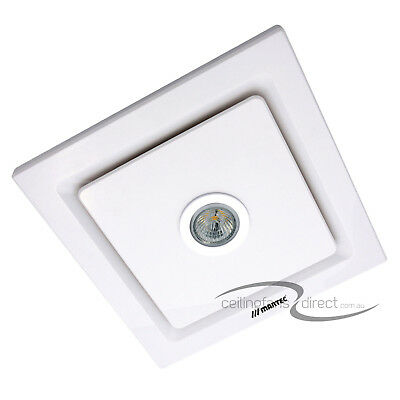 Martec Tetra Bathroom Exhaust Fan With Light White - Mxflt25W