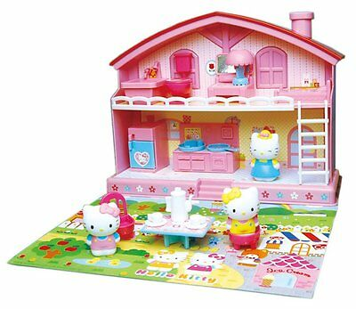 Hello Kitty House with Furnishings - Complete Set - Free UK Shipping