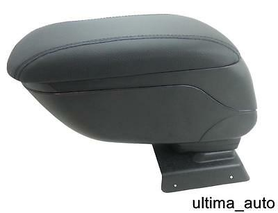 Black Leather Padded Armrest Center Specific Fit For Vauxhall Opel Astra H 2005+