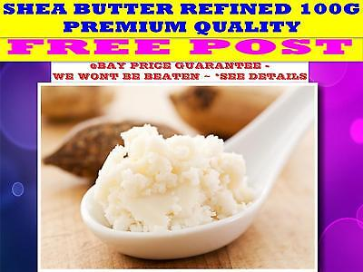 SHEA BUTTER 100G☆100% ☆ REFINED (Butyrospermum Parkii) QUALITY BUTTER☆ FREE POST