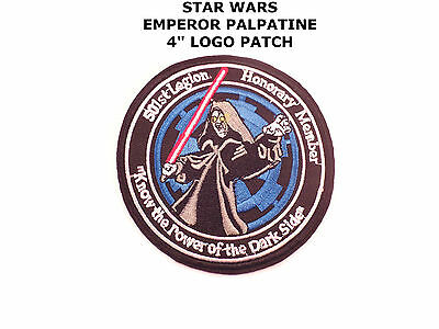 "Star Wars 4"" Emperor Palpatine Sidious 501st Legion Iron/Sew-On Patch US Seller"