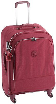 Kipling Yubin 69 Large Spinner Trolley 4 Wheeled Suitcase Port Red RRP £194